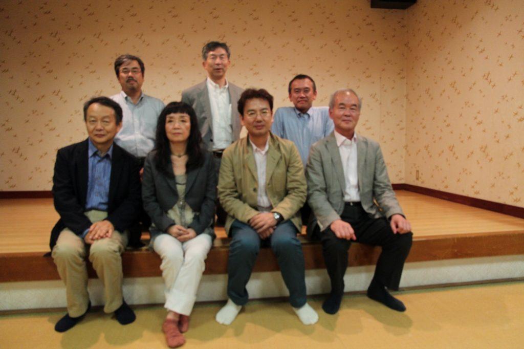 講演会のあと、能古島での懇親会にて
