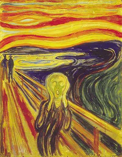 こちらは17年後に描かれた最期の「叫び」だという