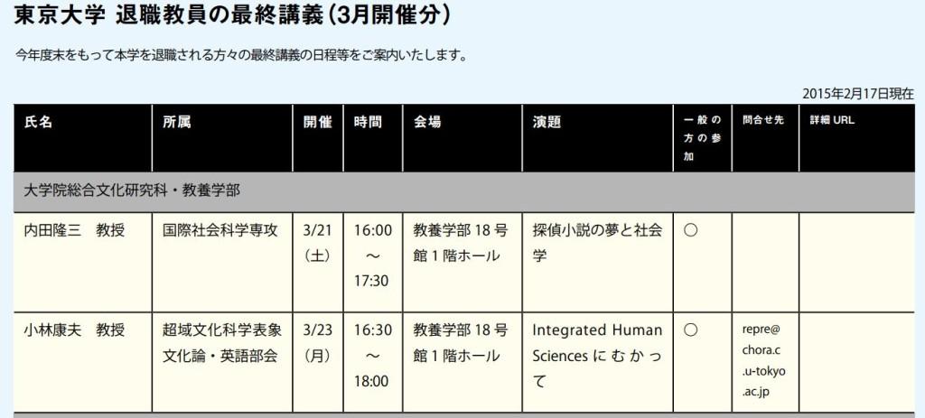 東京大学 定年