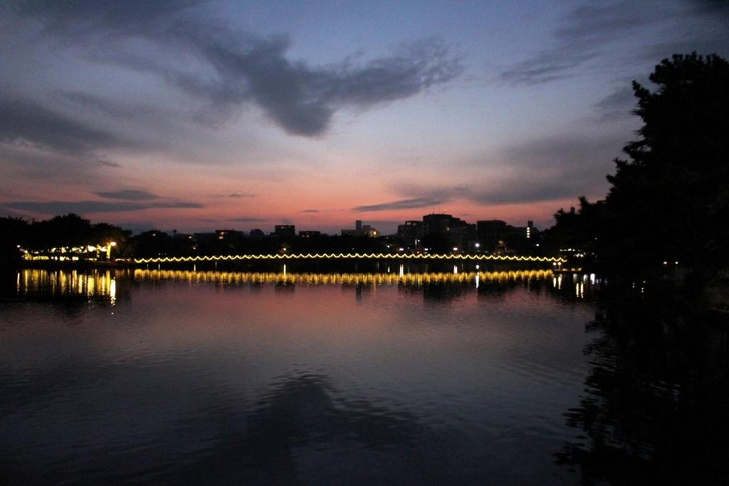 大濠公園の夕暮れ